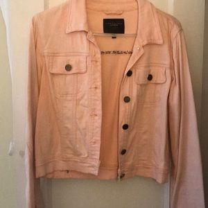 Light pink denim jacket